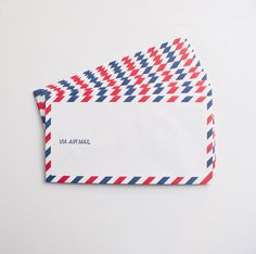 Air Mail correspondences used to require the lightest of paper weights since they were traveling so far on the air plane. This letter pad and envelope set by Ok
