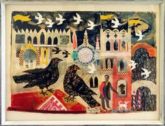 'Venetian Fantasy' by Mark Hearld (collage) Collage Illustration, Collage Art, Naive, Mail Art, Art Plastique, Bird Art, Art Lessons, Making Ideas, Printmaking