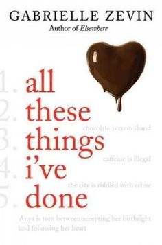 38/50-All These Things I've Done by Gabrielle Zevin. A new spin on a trite idea. Classic girl meets boy storyline, but still cute and lovable. Finished this book in less than 2 days. Totally sucked me in