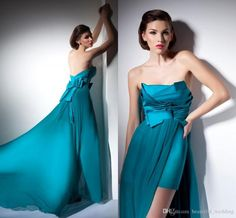 Custom Made Simple Hi Lo Prom Dress Blue Strapless Satin And Chiffon High Low Formal Party Dresses Gowns Charming Homecoming Party Dresses Plus Sized Prom Dresses Printed Prom Dresses From Beautiful_wedding, $123.57  Dhgate.Com