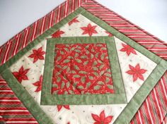 Christmas Quilted Table Topper Runner
