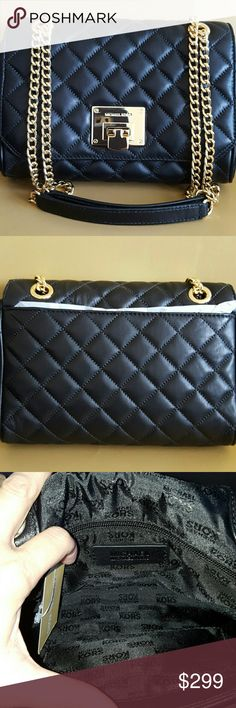 TODAY ONLY.     MICHAEL KORRS BAG NWT. AUTHENTIC Michael Kors BEAUTIFUL & STYLISH Vivienne bag in black soft quilted LEATHER  and gold hardware. RESEMBLES the CHANEL BAG.... Can be WORN as a shoulder bag or as as a crossbody!     ( Any questions or more pictures. Please,Just ask) Michael Kors Bags Crossbody Bags
