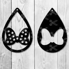 88932a99145 Download this Cute Disney Minnie bow Tear Drop Earrings SVG and DXF Cut  files and use