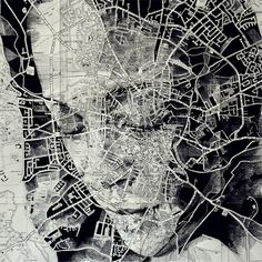 In an intriguing blend of cartography and illustration, UK artist Ed Fairburn uses maps as his canvases for stunning ink and pencil portraits. Faces are Ed Fairburn, Art Et Design, Art Du Monde, Art Carte, A Level Art, Gcse Art, Vintage Maps, Arte Pop, Oeuvre D'art