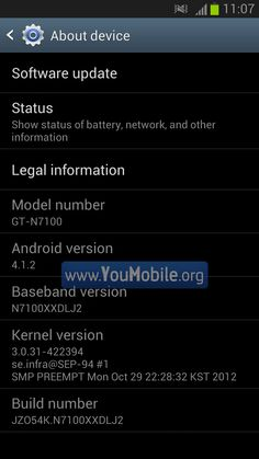 Samsung GALAXY Note II Android 4.1.2 firmware Pre-release [Change-log, Screenshots] | YouMobile
