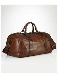 4ebfa8f80be2 Polo Ralph Lauren Core Leather Gym Bag Leather Duffle Bag