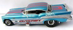 Winged Express built-up Model Cars Kits, Kit Cars, Car Kits, Slot Car Drag Racing, Chevy Models, Model Cars Building, Plastic Model Cars, Custom Hot Wheels, 1955 Chevy