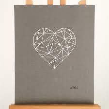 Geometric Heart - a hand-stitched artwork Trendy Tattoos, New Tattoos, Tattoos For Guys, Tatoos, Arm Tattoo, Sleeve Tattoos, Ink Link, Heart Graphics, Geometric Heart