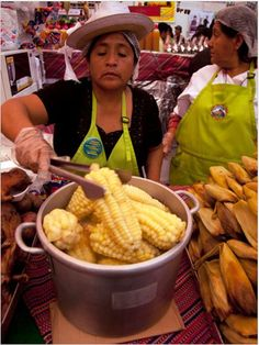 Lima, Peru- The biggest corn!  The best part is that Peru has outlawed GMOs