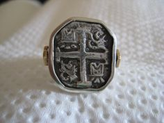 Atocha Coin Square Sterling Silver Ring by NauticalFeeling on Etsy, $179.00