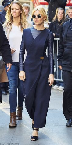 Sienna Miller wears futuristic jumpsuit for Good Morning America #dailymail
