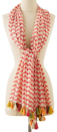 Catch A Wave Scarf -  Soft Surroundings  So fun!