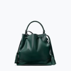 LEATHER BAG WITH RIGID HANDLE from Zara