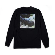 """""""today"""" long sleeve t (black) by: a wasted basket"""