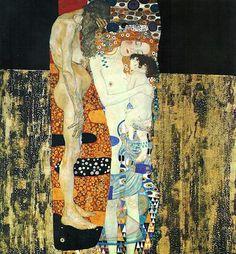 Les 3 âges de la femme, par Gustav Klimt -1905 Galleria Nazionale d'Arte Moderna, Rome, Italie.