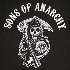 sons of anarchy logo   Sons Of Anarchy Reaper Arch Logo Black Graphic TShirt