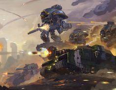 Titan assault Imperium of man Warhammer 40k Art, Warhammer Models, Warhammer Fantasy, Imperial Knight, Imperial Army, Space Marine, Sci Fi Fantasy, Sci Fi Art, Dc Comics
