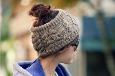 Fashion Crochet Top Open Beanie Headband Style For Ponytail,Knit Gorro Feminino Cap Women Hat Skullies, Women's Hats XH8