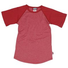 This athletic-fit raglan shirt is great for your sporty boy who might just want to show off his physique. Baseball style tee. Made in USA