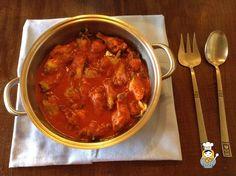 Muslitos de pollo en salsa roja - Vuelta y Vuelta