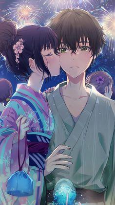 Eru Chitanda und Oreki Houtarou [Hyouka] x Animewallpaper - Light . - Eru Chitanda und Oreki Houtarou (Hyouka) x Animewallpaper – Light Art – - Otaku Anime, Anime Cupples, Fanarts Anime, Kawaii Anime Girl, Anime Girl Cute, Anime Art Girl, Kawaii Art, Anime Couples Drawings, Anime Couples Manga