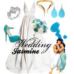 Wedding Jasmine by amarie104 on Polyvore featuring KaufmanFranco, Lucifer Vir Honestus, Giuseppe Zanotti, Jack Wills, Disney, women's clothing, women's fashion, women, female and woman