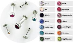 PRE-ORDER steel flatback labret w/ steel faceted gem ball