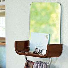 Entryway Mirror & Shelf