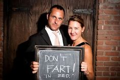 Guest book idea - get a photo of everyone at the wedding and get some advice for a scrapbook. Such a funny idea