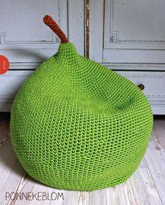 Crochet Pear Pouf