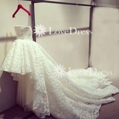 Simple Strapless Lace Wedding DressesWedding by LovePromDress, $238.99
