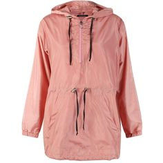 Boohoo Esme Overhead Rain Mac ($34) ❤ liked on Polyvore featuring outerwear, jackets and duster coat