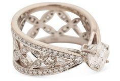 One Kings Lane - Tina Herman, Golden Age Estate Jewelry - Louis Vuitton Diamond Engagement Ring