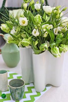 A Bunch for the Weekend-# 47-Parrot Tulips, Lisianthus and Bear Grass-Ingrid Henningsson-Of Spring and Summer
