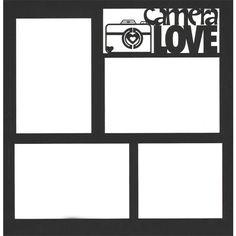 Camera Love 12 x 12 Overlay Laser Die Cut ($4.75) ❤ liked on Polyvore
