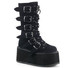 Iron Fist Plateau-Schuhe Too Fly Super Boot-Gothic-WGT-Nugoth-Feldermaus-Plateau