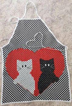 BORDADO EM TECIDO XADREZ - AVENTAL Chicken Scratch Patterns, Chicken Scratch Embroidery, Bordado Tipo Chicken Scratch, Embroidery Patterns, Gingham Fabric, Baby Planning, Sewing Aprons, Rick Rack, Smocking