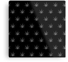 Metal Print - This pot leaf pattern, marijuana design is clean looking and understated, but still lets your appreciation for cannabis show. This design is also available with a white background.