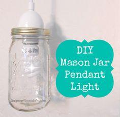 DIY Mason jar lamp. DagmarBleasdale.com