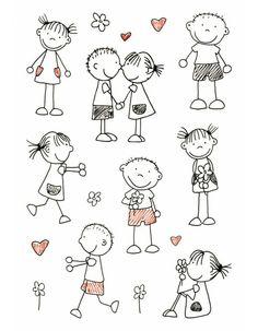 Drawing people kindergarten stick figures ideas for 2019 Doodle Drawings, Easy Drawings, Stick Figure Drawing, Stick Figure Tattoo, Sketch Notes, Stick Figures, Rock Crafts, Pebble Art, Stone Art