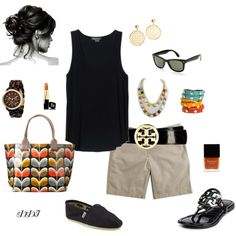 Tan, Black and Color, created by dawndayiannelli on Polyvore