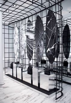 Surfing just got a whole lot more stylish! Alexander Wang has teamed up with Aussie surf brand Haydenshapes to create the most chic surfboards we've ever seen. Retail Interior Design, Retail Store Design, Retail Shop, Interior Shop, Boutique Interior, Studio Interior, Commercial Design, Commercial Interiors, Hayden Shapes