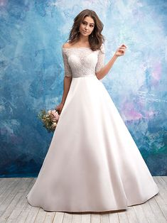 27 Ideas Wedding Gown Plus Size Ballgown Allure Bridal For 2019 Affordable Wedding Dresses, Bridal Wedding Dresses, Designer Wedding Dresses, Bridesmaid Dresses, Dress Out, Lace Dress, Eugenie Wedding, Wedding Dress Pictures, Satin Skirt