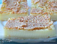 Очень вкусный и нежный пирог, с абсолютно оригинальной структурой. Имеет хрустящую румяную корочку из кунжута и приятный ванильный аромат. Подготовка занимает всего пару минут - достаточно просто в...