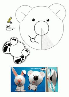 bear template for child Easy Crafts For Kids, Fun Crafts, Art For Kids, Arts And Crafts, Paper Crafts, Bear Crafts, Animal Crafts, Bear Template, Sunday School Crafts