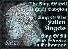 """art work by Paul Maler / """"Satan""""  King of fallen angels..."""