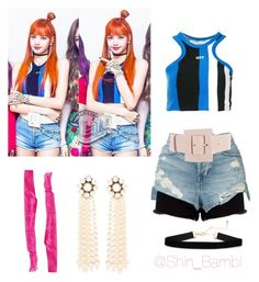 """BLACKPINK-As If It's Your Last ""Lisa"""" by shin-bambi on Polyvore featuring moda, 3x1, Off-White, Alice + Olivia, STELLA McCARTNEY, kpop, lisa y BlackPink"