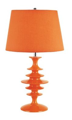TRANS GLOBE LIGHTING KDL-551 OR SPACE AGE KIDS TABLE LAMP FLAT, ORANGE  - Click image twice for more info - See a larger selection of kids table lamps at http://tablelampgallery.com/product-category/kids-table-lamps/ - home, home decor, home ideas, desk lamp , gift ideas, lightning, lamp, kids lamp