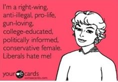 Hahaha! This is funny bc I was recently 'lectured' by an extreme democrat for my republican views.