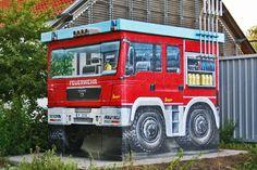 Art-EFX-Substation as Mini Fire Truck in Potsdam Grube,  #artefx, #murals, #muralpainting, #streetart, #graffitiauftrag, #substation, #illusionsmalerei, #firetruck, #firefighter, #feuerwehr,
